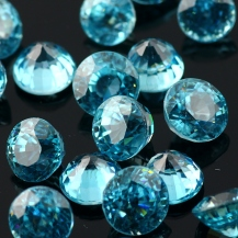 Joopy Gems Blue Zircon 5mm brilliant cut round